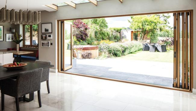 Centor bifold doors allow for expansive views