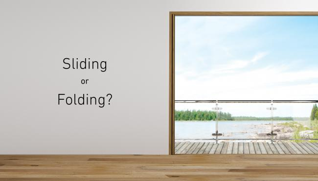 Choosing between a sliding or folding door for your self build project