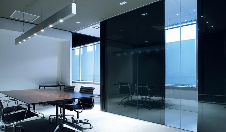 Centor sliding door hardware used internally for an office space