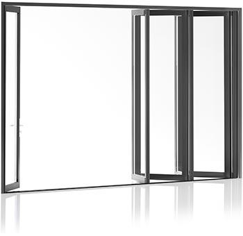 400 Series aluminium door with built in screen and shade concealed in door frame