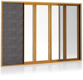 200 Series Integrated Doors with built-in insect screen and blind