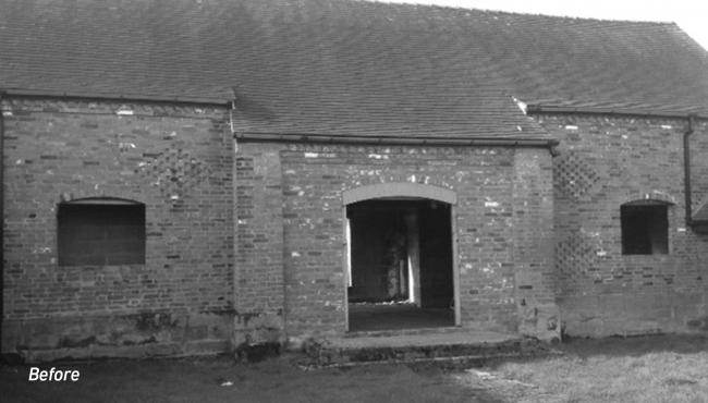 Before renovations were completed on the converted barn