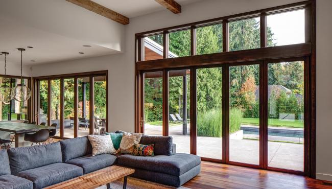 Centor Integrated Folding Doors specified in a new home planned for indoor outdoor living