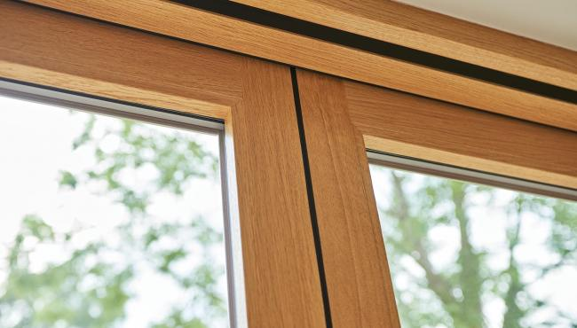 Bifold patio doors from Centor are finished with beautiful European oak on the interior