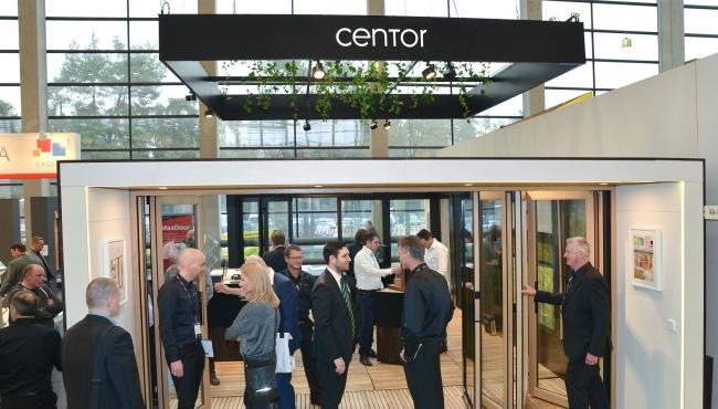 Centor Fensterbau display featured Integrated Folding Doors and insect screen systems