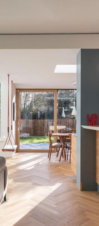 Building a ground floor extension has allowed Amaresh and Neerali to enjoy the light-filled, family-friendly living space they wanted.