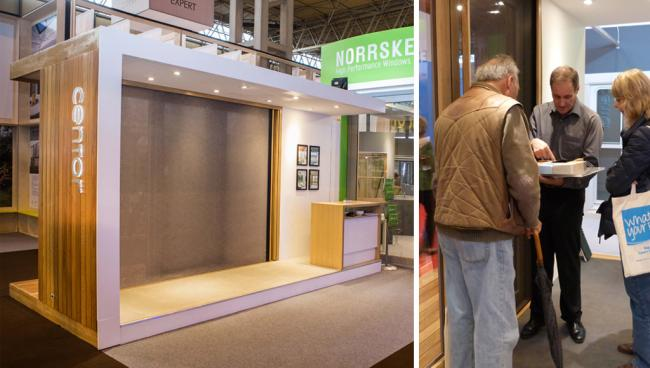 Experience Centor's new Integrated Sliding Door at a homeshow near you in 2016!