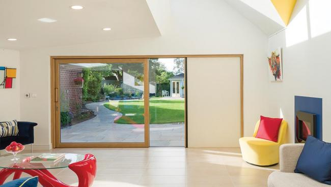 Peter and Alison enjoy the changing, natural light and views to outside from their ground floor extension.