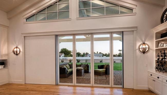 Painted 205 Integrated Folding Door is fully customisable to suit your needs in your home project