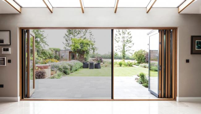 Centor 205 Integrated Folding Door with built-in screen for protection from insects