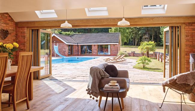Centor exterior bifold door perfect for open plan living