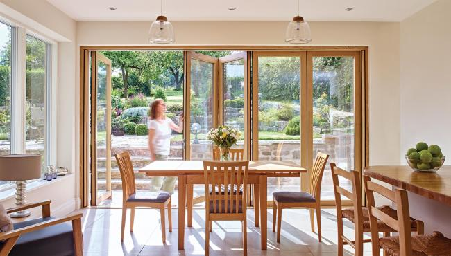 Custom bifold doors for a Derbyshire home renovation