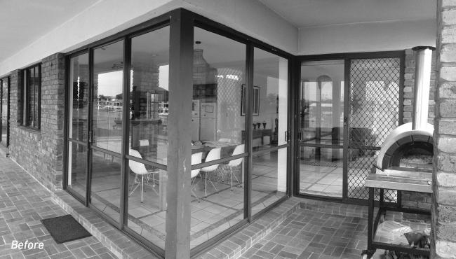 Before renovations took place in the family home with Integrated Folding Doors