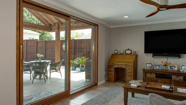 Centor Integrated Sliding Door installed in a Texas home