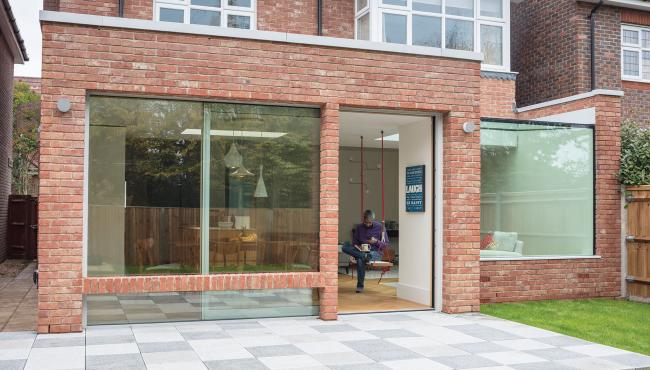 Centor Integrated 211 Sliding Door in London home with seamless connection to outside