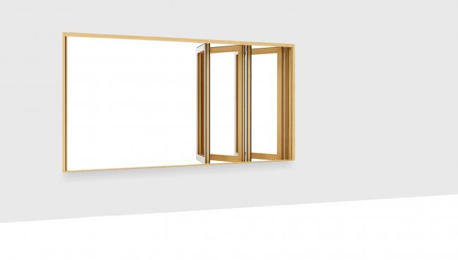 255 Integrated Folding Window