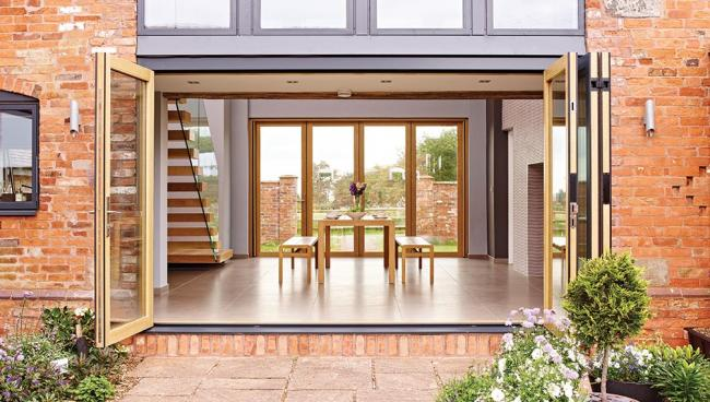Barn conversion with Centor Integrated Folding Doors