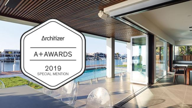 207 Integrated Cornerless Folding Door given a Special Mention in 2019 Architizer A+Awards