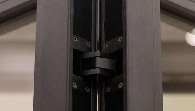 Centor's concealed hinge makes the doors tamper-proof for additional security